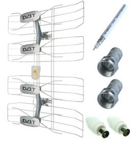 Venkovní anténa Solight DVB-T anténa - síto, VHF/UHF, 35dB vč. zesilovače
