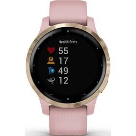 GPS hodinky Garmin vívoactive4S LightGold/Pink (010-02172-33)