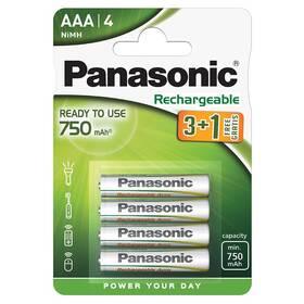 Baterie nabíjecí Panasonic Evolta AAA, HR03, 750mAh, Ni-MH, blistr 4ks (HHR-4MVE/4B1)
