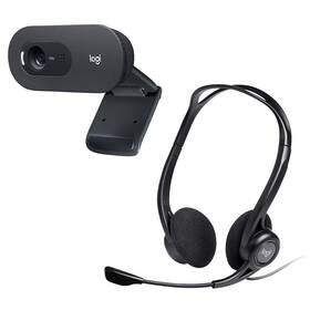 Webkamera Logitech C505 HD + Headset Logitech 960 USB