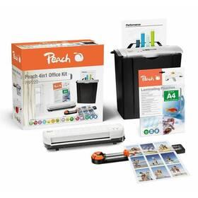 Skartovač Peach 4v1 Office Kit PBP220, set skartovač, laminátor, řezačka, combi box (510856)