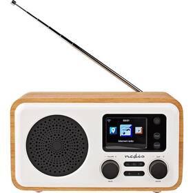 Internetový radiopřijímač Nedis RDIN2000WT bílý/dřevo