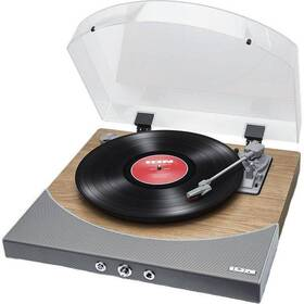 Gramofon ION Premier LP Natural Wood šedý/hnědý