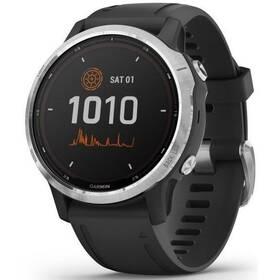 GPS hodinky Garmin fenix6S Solar - Silver/Black Band (010-02409-00)