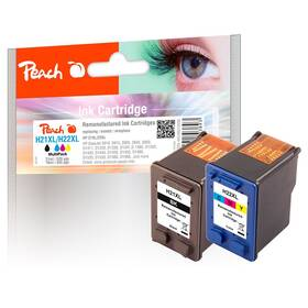Inkoustová náplň Peach HP PI300-402, No. 21XL/No. 22XL, MultiPack, 2x21 ml CMYK (316356)