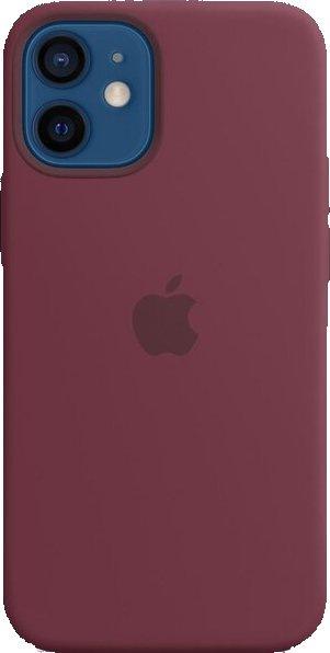 Apple Silicone Case MagSafe pro iPhone 12 mini švestkový