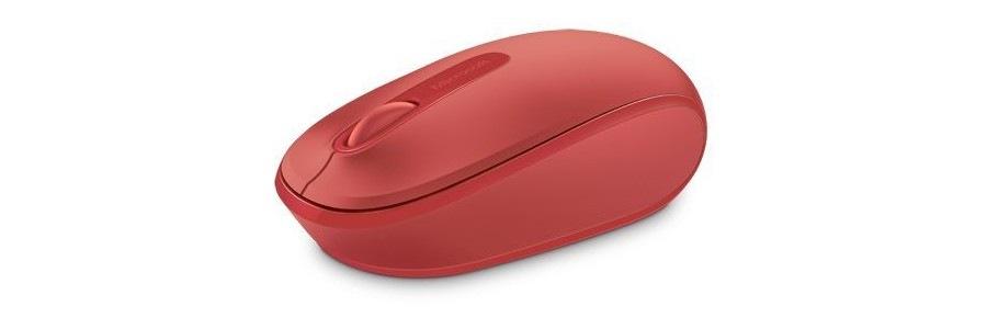 Microsoft Wireless Mobile Mouse 1850, červená