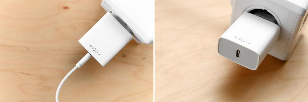 Nabíječka do sítě FIXED USB-C PD 20W bílá (FIXC20-C-WH)
