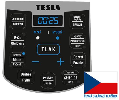 Ovládací tlačítka jsou v češtině