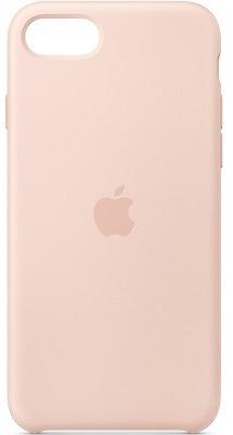 Apple Silicone Case pro iPhone SE (2020), pískově růžová