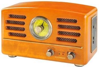 Radiopřijímač Hyundai Retro RA 302, dub