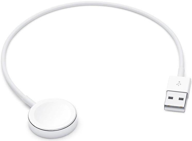 Magnetický nabíjecí kabel pro Apple Watch, 0,3 m, bílá