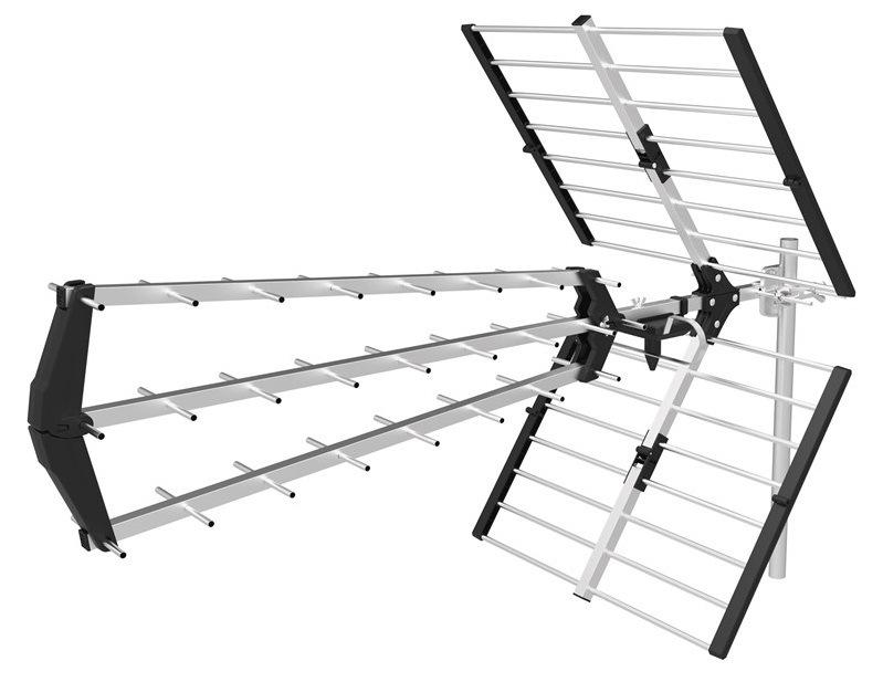 Venkovní anténa EMOS EM-27LTE, 0–200 km DVB-T2