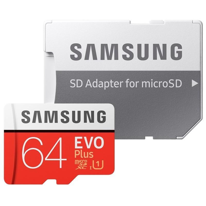 Samsung Micro SDXC EVO+, 64GB + SD adaptér